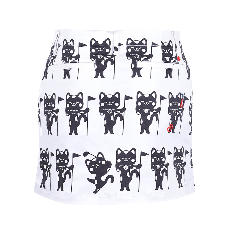 Le Coq Sportif Golf Mono Print Women's Skort (White)