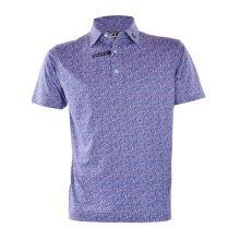 Footjoy Confetti Print Pique Men's Polo (French Blue)