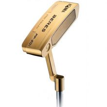 Honma PP-201 24K Gold Plated 4 Star with Leather Grip Men's Putter