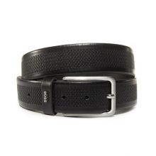 Hugo Boss Calis Logo Men's Belt (Black)
