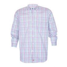 Cutter & Buck Anchor Multi Colored Plaid Tailored Ls Shirt Men