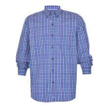 Cutter & Buck Anchor Double Check Plaid Tailored Ls Shirt Men